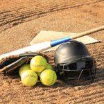 Balls, Baseball bat, and Helmet