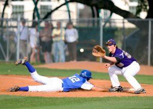 A baseball slide